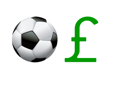 Football Player Transfers - British Pounds - Illustration - Concept - Graphic