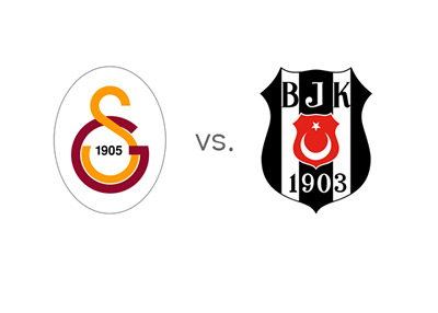 Turkish Super Lig Matchup - Galatasaray vs. Besiktas - Team Logos