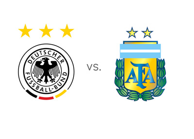 Germany vs. Argentina - National Football Teams - Matchup - Team Logos / Crests