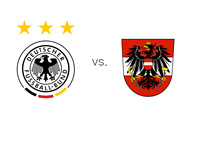 German and Austria Football Associations - Logos - World Cup Qualifying Match