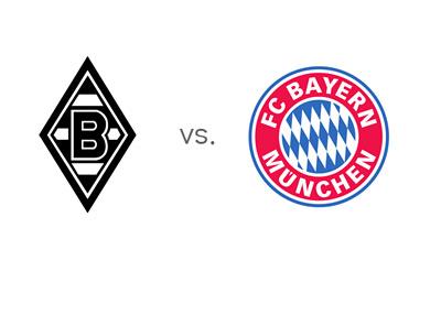 Bundesliga Matchup - Borussia Monchengladbach vs. Bayern Munich - Team Logos