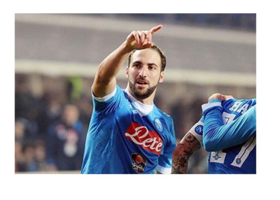 Gonzalo Higuain in blue and white for SSC Napoli - January 2016