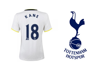 Harry Kane - Tottenham Hotspur - Jersey Number 18 and Team Logo