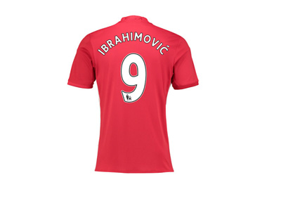 Manchester United number 9 shirt - 2016/16 season - Zlatan Ibrahimovic - Jersey back side