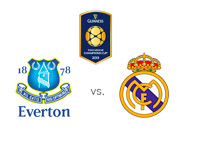 The International Champions Cup - Everton vs. Real Madrid - Team and tournament logos - Matchup