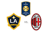 The International Champions Cup - LA Galaxy vs. AC Milan - Matchup - Team and Tournament Logos