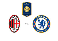 The International Champions Cup - AC Milan vs. Chelsea - Team and Tournament Logos / Matchup