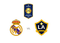The International Champions Cup - ICC - Real Madrid vs. LA Galaxy - Team and Tournament Logos