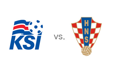 World Cup Qualifications - Iceland vs. Croatia - Matchup - Team Crests