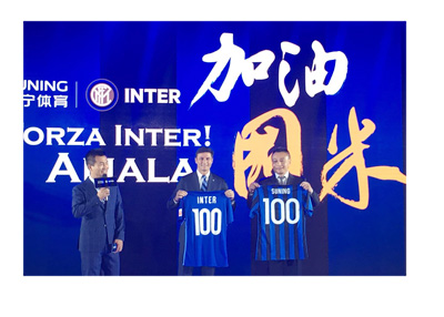 Suning Holdings co. buys Inter Milan