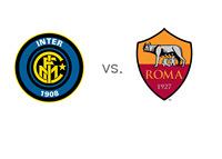 Italian Serie A matchup - Internazionale vs. AS Roma - Team Logos
