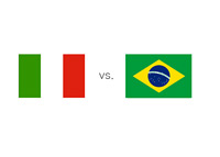 Italy vs. Brazil - Matchup and Country Flags