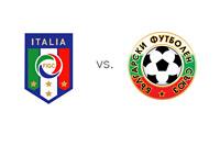 Italy vs. Bulgaria Matchup and Football Association Logos