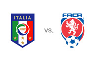 Italy vs. Czech Republic - Team Crests - Matchup