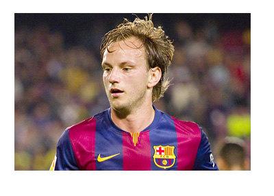 Ivan Rakitic wearing a Barcelona FC jersey - In game photo - November 2014