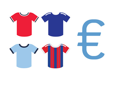 Football Jersey Sales - in Euros - Illustration / Concept