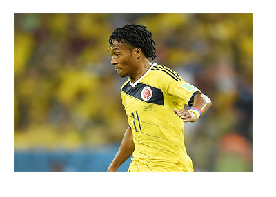 Juan Cuadrado- Colombia National Team - FIFA World Cup 2014 - Brasil - Game Photo