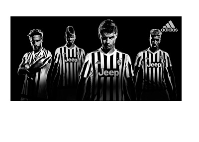 Promotion for the new Juventus FC home kit for 2015/16 season by Adidas featuring Paul Pogba, Alvaro Morata, Claudio Marchisio and Kingsley Coman