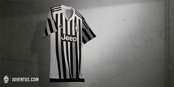 Juventus FC 2015/16 kit by Adidas - Home