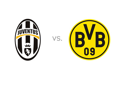 Juventus FC vs. Borussia Dortmund - Matchup - Odds - Preview - Head to Head - Illustration - Team Logos / Badges / Crests