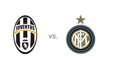 Serie A Matchup - Juventus vs. Inter - Team Logos