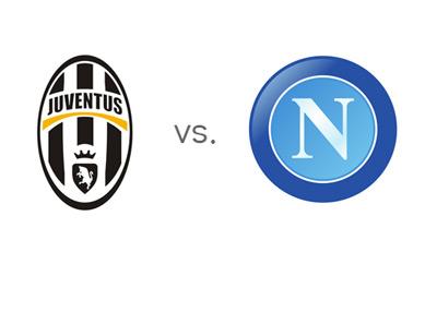 Serie A Matchup - Juventus vs. Napoli - Team Logos