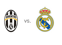 UCL Matchup - Juventus vs. Real Madrid - Team Logos
