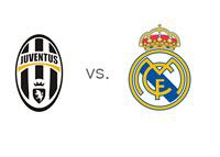UCL Matchup - Juventus vs. Real Madrid - Team Logos
