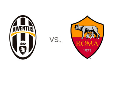 Serie A Matchup - Juventus vs. AS Roma - Team Logos - Game