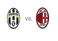 Juventus vs. AC Milan - Serie A Matchup - Team Logos