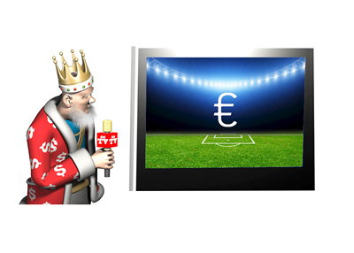 The King is presenting the latest football broadcast revenues