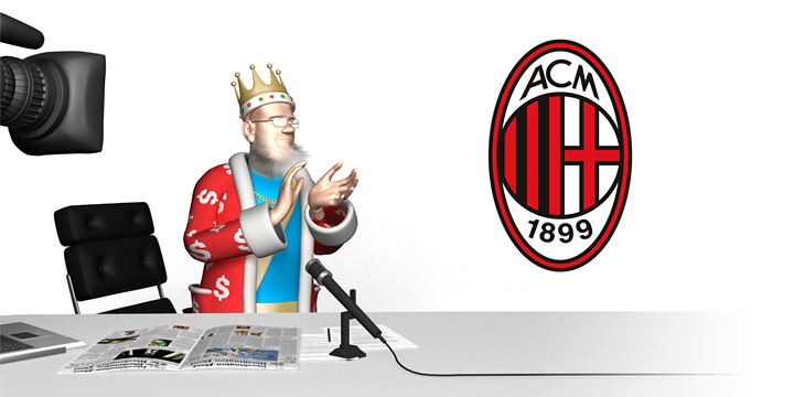 The King is clapping in approval of the sale of AC Milan to Chinese investment firm.  Also a clap for Silvio Berlusconi spectacular exit