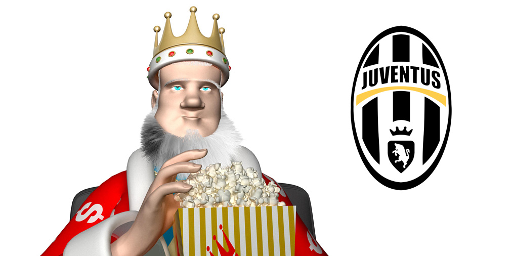 The King is excited about the Miralem Pjanic move from AS Roma to Juventus FC.  Eating popcorn.