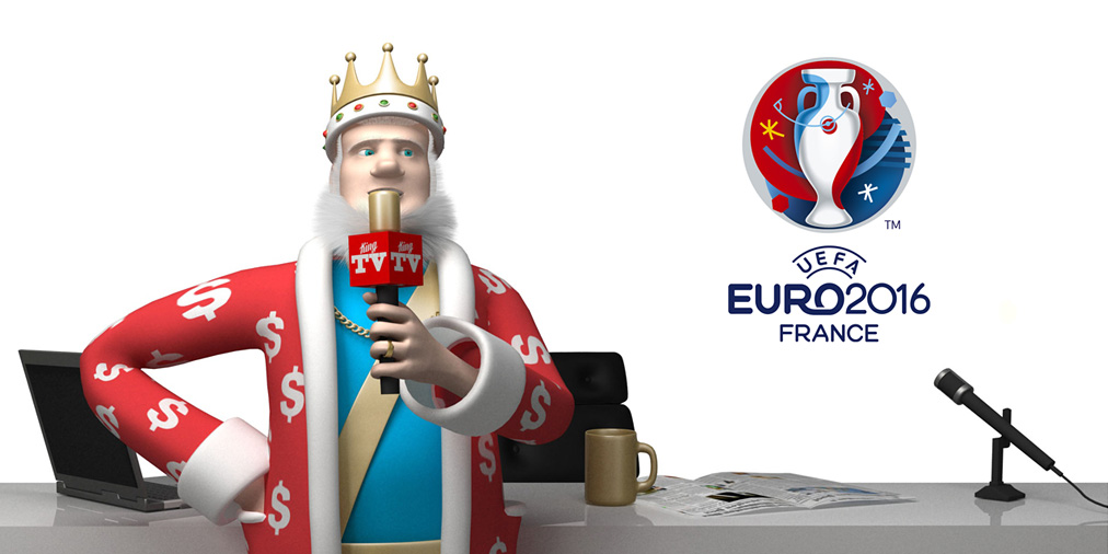 The King is reporting on the latest squad valuation numbers from the Euro Cup 2016 in France