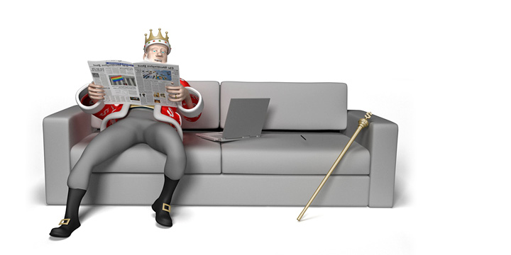 The Football King is relaxing on the couch and reading the papers.  Talking about super agent Mino Raiola and his very successful 2016/17 transfer market season