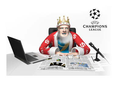 The King is very excited about the return of the UEFA Champions League. Studio report