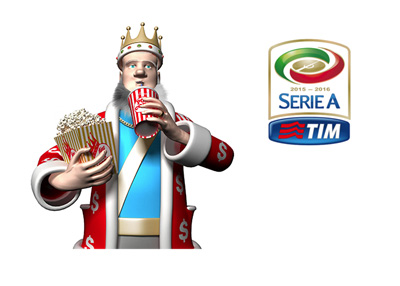 The King is set for the weekend.  Loaded with popcorn and coke he is ready to watch Serie A games this Sunday.