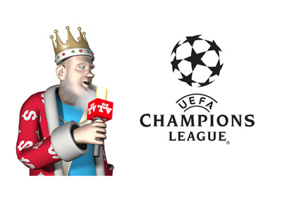 With the mic in his hand the King is reporting on the latest from the UEFA Champions League
