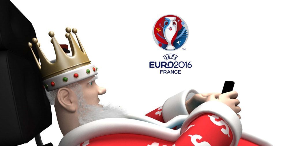 The Football King is texting / tweeting / facebooking the latest Euro Cup 2016 money stats to his fans