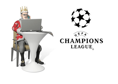 The Football King is reporting on the latest odds for the UEFA Champions League qualifications playoff - From a sunny cafe of course