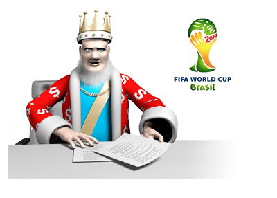 The King is reporting on the latest from the FIFA World Cup