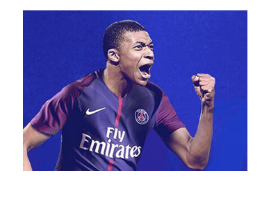 Kylian Mbappe - PSG transfer art / graphic.  2017 summer transfer market.
