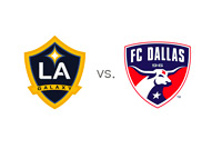 Los Angeles Galaxy vs. Dallas Football Club - Team Logos - Matchup