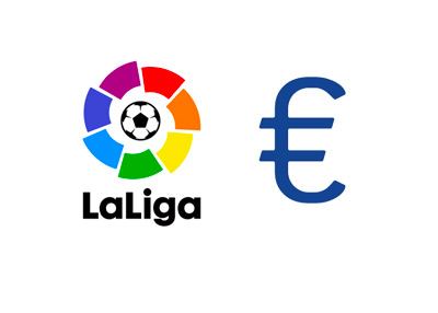 Spanish La Liga - 2015/16 season logo next to a Euro currency sign - Financials / Salaries - Concept