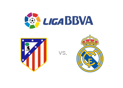 Spanish La Liga game preview - Atletico Madrid vs. Real Madrid - Team crests, matchup and odds