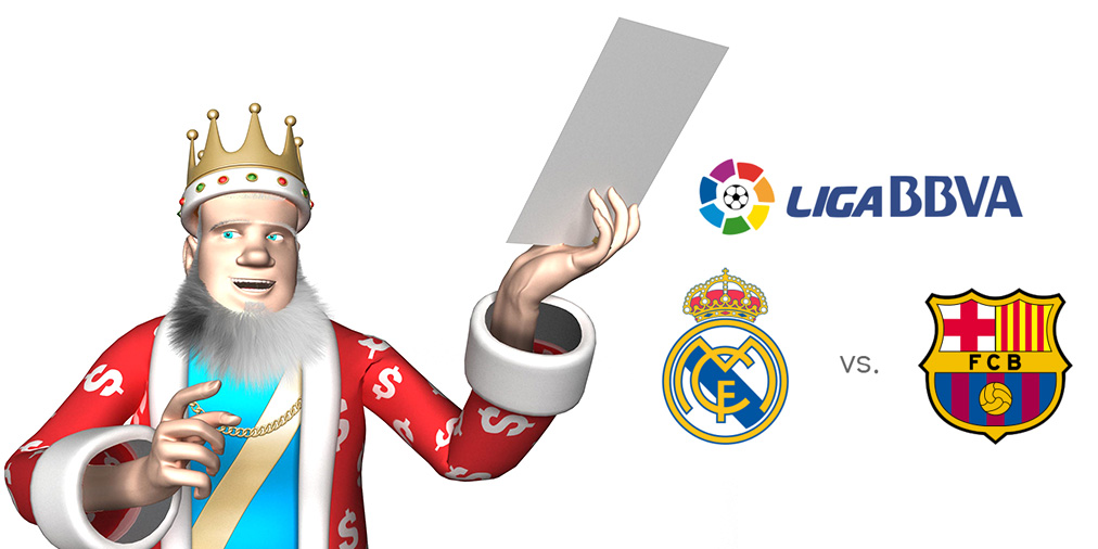 The King presents the upcoming matchup between Real Madrid and Barcelona FC in the Spanish La Liga