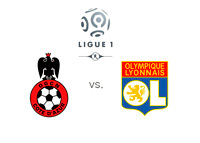 Ligue 1 - Nice vs. Lyon - Matchup and Logos