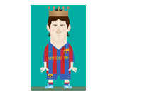 Stanley Chow Illustration - Lionel Messi - The King