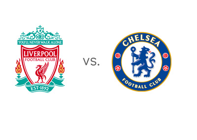 English Premier League matchup - Liverpool vs. Chelsea - Team Logos / Crests / Badges