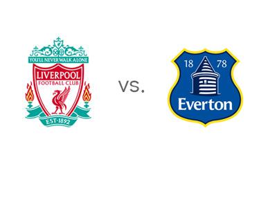Liverpool vs. Everton - Barclays Premier League matchup - Team Logos